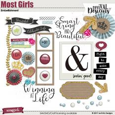 Most Girls Embellishments by ReviVAL Designs