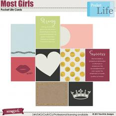 Most Girls Pocket Life Journaling Cards by ReviVAL Designs