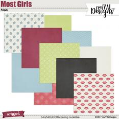 Most Girls Papers by ReviVAL Designs