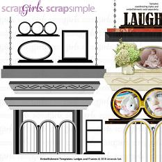 ScrapSimple Embellishment Templates: Ledges and Frames @ScrapGirls.com