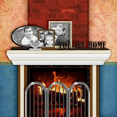 "Digital Scrapbooking layout ""You Are Home"" by Amanda Fraijo-Tobin using Ledges and Frames Embellishment Templates"