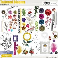 Tattered Blooms Embellishment