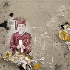 layout using Brush Set: Mix Brush Vintage School by florju designs
