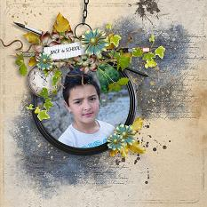 layout using Vintage School Embellishment Biggie by florju designs