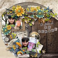 layout using Vintage School Collection by florju designs