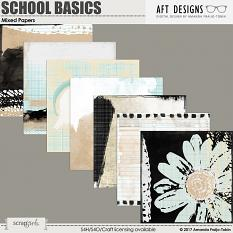 School Basics - Mixed Collage Papers by AFT Designs @ ScrapGirls.com | AFTdesigns.net #digitalscrapbooking #printables