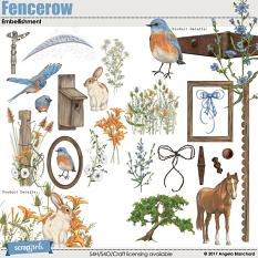 Fencerow Embellishments by Angela Blanchard