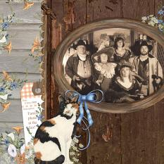 Family Photo at the Fair using Barn Cats Embellishment Mini by Angela Blanchard