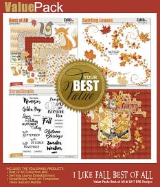 Value Pack: I Like Fall Best of All by DRB Designs | ScrapGirls.com