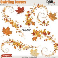 Swirling Leaves Embellishment by DRB Designs | ScrapGirls.com