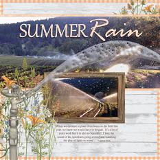 Summer Rain layout using Fencerow Collection by Angela Blanchard