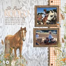 St. Paul Rodeo layout using Fencerow Collection by Angela Blanchard