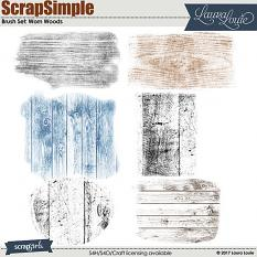 ScrapSimple Brush Set: Worn Woods
