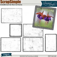 ScrapSimple Embellishment Set: Worn Out Frames