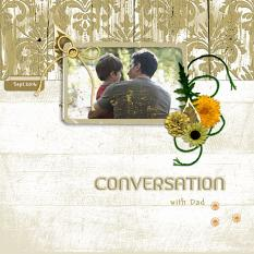 """Conversation"" digital scrapbook layout by Geraldine"