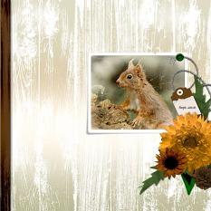 """Squirrel"" digital scrapbook layout by Geraldine"