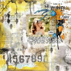 layout using Autumn Leaf Word Art & Stamp by florju designs