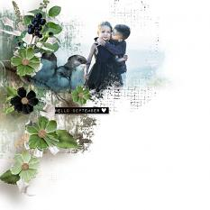 layout using ScrapSimple Embellishment Templates: Hello September Clipping Mask by florju designs