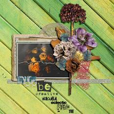 Be Creative, colourful layout by geekgirl designs,
