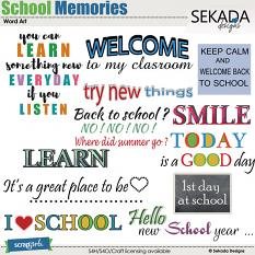 School Memories Word Art