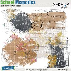School Memories Embellishment Mini Accent