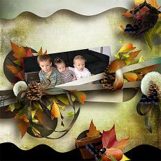 layout using Value Pack: Autumn Glow by florju designs