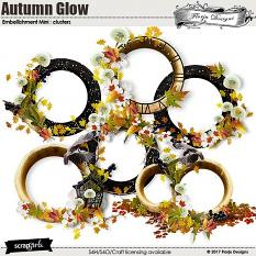 Autumn Glow Embellishment Mini: Cluster 1 by florju designs