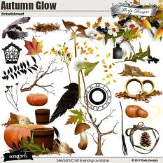 layout using Autumn Glow Collection Mini by florju designs