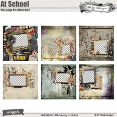 Easy Page Pro Mini Album At School by florju designs