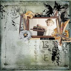 layout using Easy Page Pro Mini Album At School by florju designs