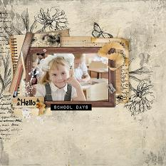 layout using Brush Set: Mix Brush At School by florju designs