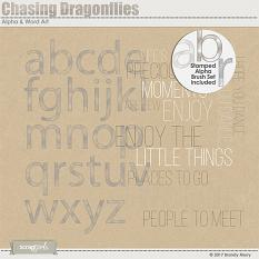 Chasing Dragonflies Alpha & Word Art by Brandy Murry