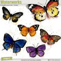 Waterworks Embellishment Mini - Flutters