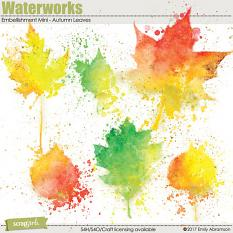 Waterworks Embellishment Mini - Autumn Leaves