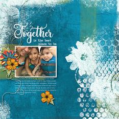 Together digital scrapbooking layout featuring My Journal Collections