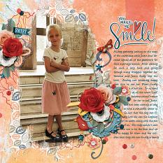 Sweet Smile digital scrapbooking layout featuring My Journal Collections