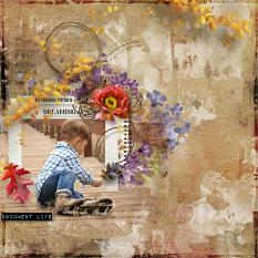 layout using ScrapSimple Embellishment Templates: Autumn Path Clipping Mask by florju designs