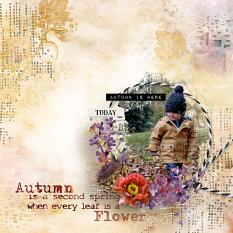 layout using Value Pack: Autumn Path by florju designs