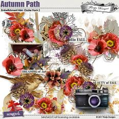 Autumn Path Embellishment Mini: Cluster Pack 2 by florju designs