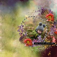 layout using Autumn Path Embellishment Mini: Cluster Pack 2 by florju designs