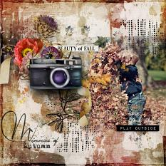 layout using Autumn Path Word art and Word tag by florju designs