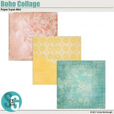 Boho Collage Paper Super Mini by Cindy Rohrbough