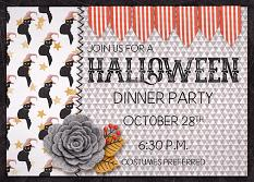 """Halloween Party Invitation"" designed by April Martell"