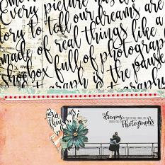 Scrapbook page by Angie Briggs using Everyday Stories digi kit