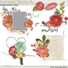 Everyday Stories Embellishment Clusters