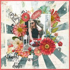 Scrapbook page using Everyday Stories Word Art Mini