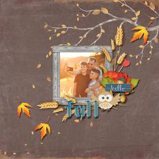 Digital scrapbooking layout by Armi Custodio using Indian Summer Collection Mini