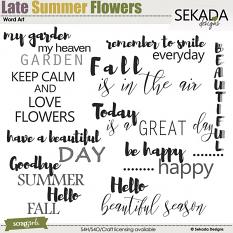 Late Summer Flowers Word Arts