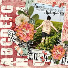Scrapbook page featuring Everyday Stories products