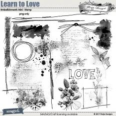 Learn To Love Embellishment Mini: Stamp by florju designs